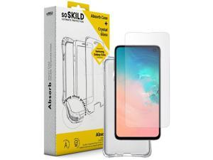 SOSKILD Mobile Case Absorb 2.0 Impact Case for Samsung Galaxy S10e with Screen Protector - Transparent