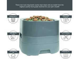 PetWeighter Bowl - Large & Heavy Dog Food Bowl - Elevated Dog & Cat Water Bowl (Large)