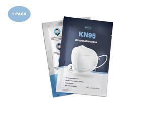 WeCare Protective Disposable KN95 Face Mask, White - 1 Mask (Individually-Packaged)
