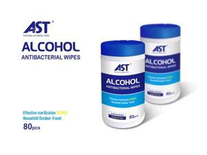 AST 75% Ethyl Alcohol Disinfecting Wipes - 80 Wipes Container