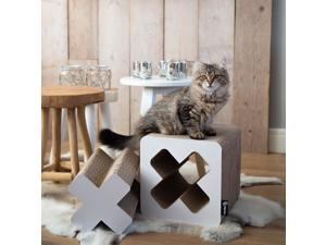 District 70 Treasure Cardboard Cat Scratcher (Small) - White