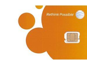 AT&T Nano SIM Card 4G LTE 4488A, GSM GoPhone Prepaid or Contract