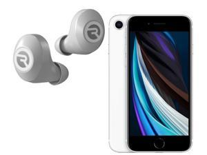 Apple Iphone SE 2020 Unlocked GSM Phone with Raycon E25 Earbuds - White