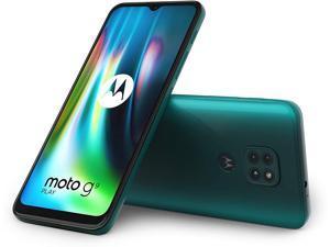 Motorola Moto G9 Play XT2083-1 64GB Dual Sim GSM Unlocked Android Smart Phone - Forest Green