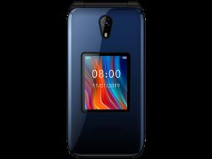 Schok Classic Flip Unlocked GSM Phone - Blue / Red