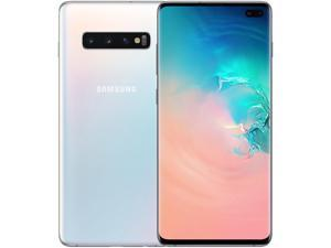 Samsung Galaxy S10+ G975 128GB Unlocked GSM LTE Phone with Triple 12 MP + 12 MP + 16 MP Rear Camera - Prism White (International Version)