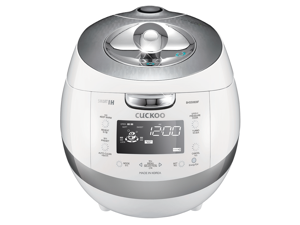 CUCKOO CRP-BHSS0609F 6 Cup Pressure Rice Cooker, 120V - White