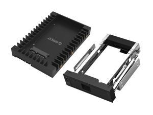 ORICO SSD Tray, 1* 2.5 to 3.5 inch Hard Drive HDD SSD Adapter + 1*Tool Free 3.5 inch SATA to 5.25 Stainless Bracket HDD Frame Mobile Rack Internal HDD Case CD-ROM Space Internal Hard Driver Mounting