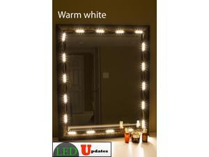 Makeup mirror LED light Warm white for make up vanity application with Dimmer & UL 12v power supply
