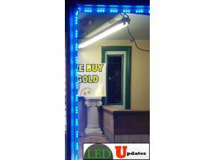20ft Blue Storefront LED light Superbright series with UL 12v 3A power supply