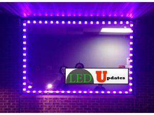 20ft Purple Storefront LED light with UL Listed 12v power adapter