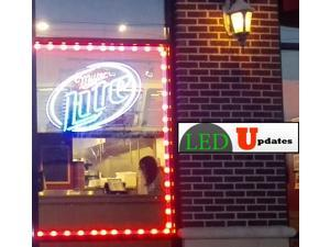 20ft Brightest Red Storefront windows LED Light 5630 with UL Power Supply