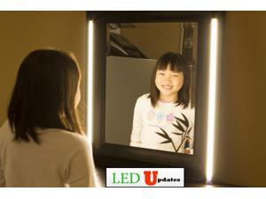 2x Professional series Make up Mirror Warm White LED Light for Makeup mirror application dimmer built-in with UL Power Supply