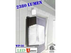 28W BRONZE OUTDOOR WALL PACK LED SECURITY LIGHT