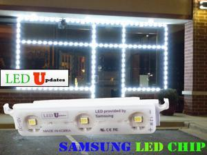 25ft SUPER BRIGHT Storefront LED Light K2835 SERIES SAMSUNG LED Chip MODULES with UL listed 12v power supply