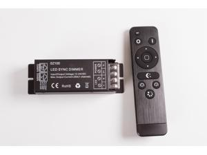 12v 24v LED light Flash Function Controller with wireless remote for single color LED light module strip Dimmable 25A