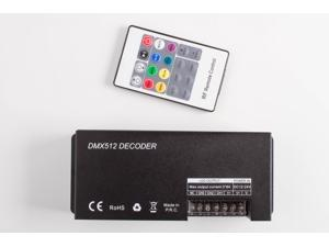 LEDUPDATES LED RGB LIGHT DMX 512 CONTROLLER with remote control 3 channel for RGB LED Light strip. RGBW not compatible