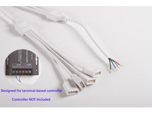 RGB 1 to 4 splitter cable for Terminal Based LED Light controller