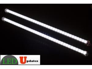 """LEDupdates 2pcs 20"""" Showcase LED Light 40"""" length for 4ft Showcase, Under cabinet, closet, pantry & Workshop U5630 package with UL 12v Ac Adapter"""