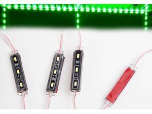 LEDUPDATES 30ft Premium Storefront Window LED Light + Heavy Duty UL Listed 12v 100w Power Supply (Green)