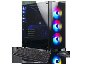 XOTIC V200 Essential (RYZEN 9 3900X 12-core 4.6GHZ Turbo, 32GB DDR4 RAM, 500GB NVMe SSD + 2TB HDD, NVIDIA GTX 1660 Ti 6GB, Windows 10) Liquid Cooled VR READY Gaming Desktop PC