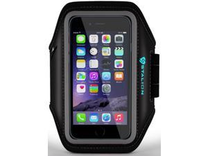 iPod Touch Armband: Stalion® Sports Running & Exercise Gym Sportband (Jet Black) Water Resistant + Sweat Proof (for Apple iPod Touch 5th & 6th Gen)
