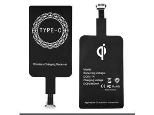 ABLEGRID Qi Wireless Charger USB Type-C Sticker Charge Charging Receiver Slim For Phone