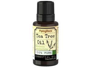 Piping Rock Tea Tree Oil 100% Pure Essential Oil 15 mL/0.51 fl. oz. Dropper Bottle