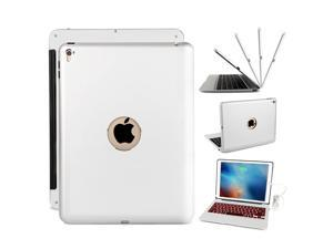 F06 Aluminum Alloy Rechargeable Bluetooth Keyboard Case 7 Color Backlit for iPad Pro 9.7 Inch and iPad Air 2