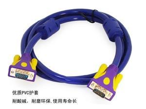 1.5M vga cable 3 + 9 15pin Male to Male Extension Monitor Cable Computer Projector cable
