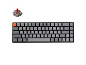 K6 Wireless Mechanical Keyboard, White Backlight, Gateron Red Switches