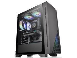 Thermaltake H330 Tempered Glass ATX Gaming Case, Black