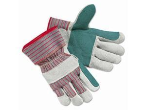 """Memphis Glove 1211j Jointed Double Leatherpalm 2-1/2"""" Rubb Safety"""