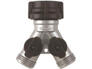 Gilmour Mfg 15 Zinc Y Connector With Shut-Off Y With Shut-Off - Carded