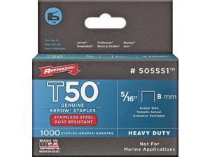 Arrow T50 Heavy-Duty Stainless Steel Staple, 5/16 In. (1000-Pack) 505SS1