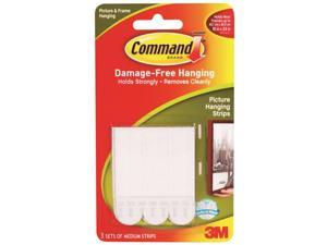 3M 17201 Command Medium Picture Hanging Strips 3 sets of strips