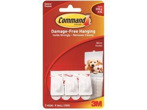 3M 17066 Command Micro Hooks 3 hooks, 4 strips