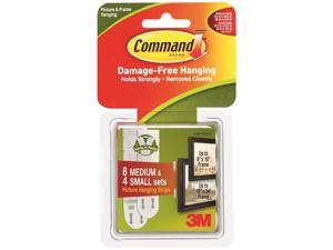 3M COMPANY Command Small and Medium Picture Hanging Strips Value Pack