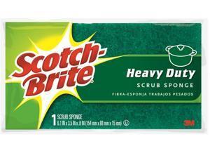 "3M 00003 Scotch-Brite Large 6.1"" x 3.5"" Heavy Duty Scrub Sponge"