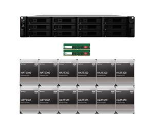 Synology RS2421+ RackStation with 32GB RAM and 96TB (12 x 8TB) of HAT5300 Synology Enterprise Drives Fully Assembled and Tested By CustomTechSales
