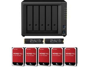 Synology DS1019+ 5-Bay DiskStation Assembled and Tested with 8GB RAM and 30TB (5 x 6TB) Western Digital PRO NAS Drives and 2TB (2x1TB) NVMe Cache Fully Assembled and Tested by CustomTechSales