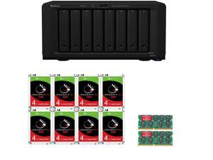 Synology DS1819+ 8-Bay DiskStation with 32GB RAM and 32TB (8x4TB) of Seagate Ironwolf PRO NAS DRIVES Fully Assembled and Tested By CustomTechSales