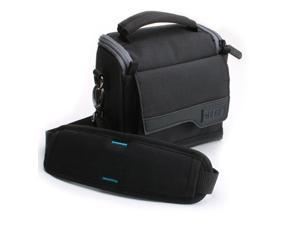 USA Gear Carrying Case for Western Digital My Passport Wireless Pro 2TB External Hard Drive W/Shoulder Strap, Scratch Resistant Lining & Accessory Storage Pockets - Perfect for Storage or Travel