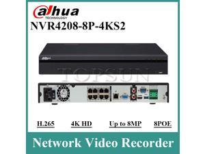 Dahua Original NVR4208-8P-4KS2 Network Video Recorder 8 Channel 1U 8PoE 4K&H.265 Lite NVR Network Video Recorder