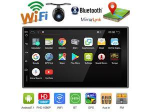 Bosion 7 inch 2GB+32GB Universal Android 10.0 Full Touch Screen Car Gps Navigation Stereo Headunit + Free Offline GPS Map + Free Backup Camera + Wifi + GPS + Bluetooth + AM/FM + USB port + Aux Input