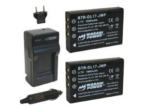 wasabi power battery 2pack and charger for toshiba px1657, pa3791u and toshiba camileo h30, h31, x100
