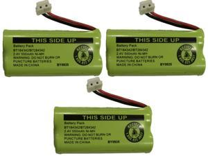 Battery BT184342 / BT284342 for AT&T Vtech GE RCA and Clarity Phones 2.4V 550mAh Ni-MH (3-Pack)
