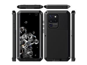 For Samsung Galaxy S20 Ultra case Luxury doom armor Dirt Shock Metal phone cases For Samsung Galaxy S20 Ultra case(black)