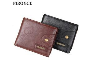 9f0d9f877e149 Genuine Leather Small Wallets Men Short Hasp Soft Purse Male ID Credit Card  ...