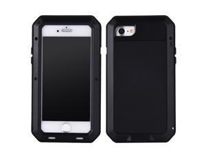 Luxury Doom armor Dirt Shock Metal Aluminum cell phone case For iphone 8 cover(black)